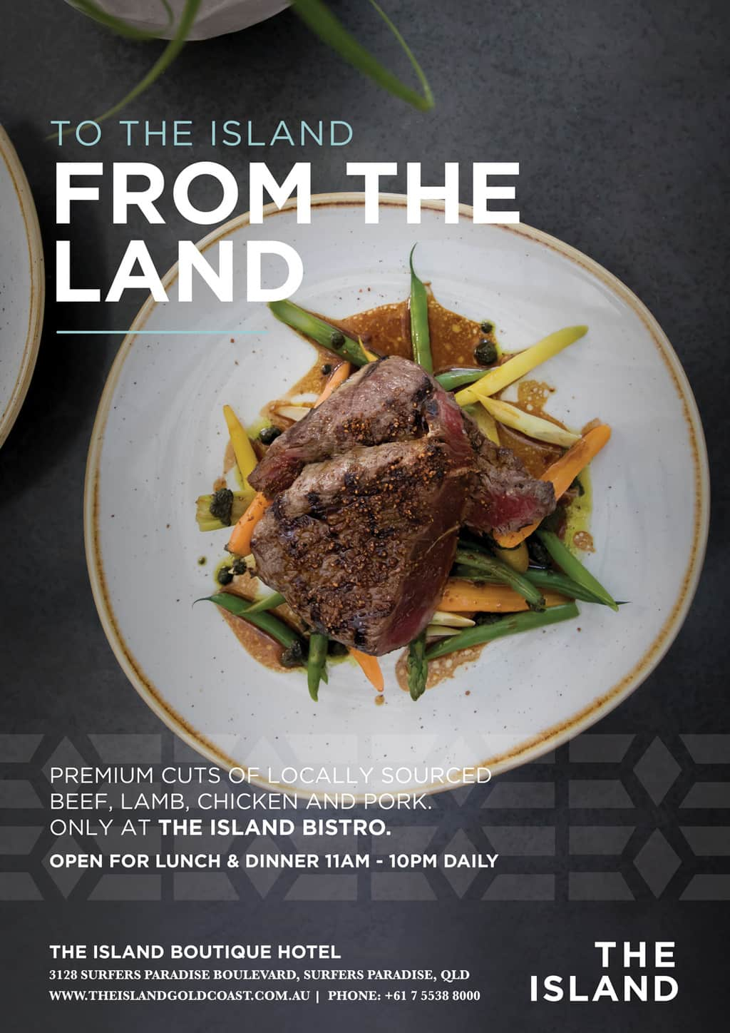 The Island Bistro Grill [object object] - food posters beef - The Island Bistro | Gold Coast Restaurants