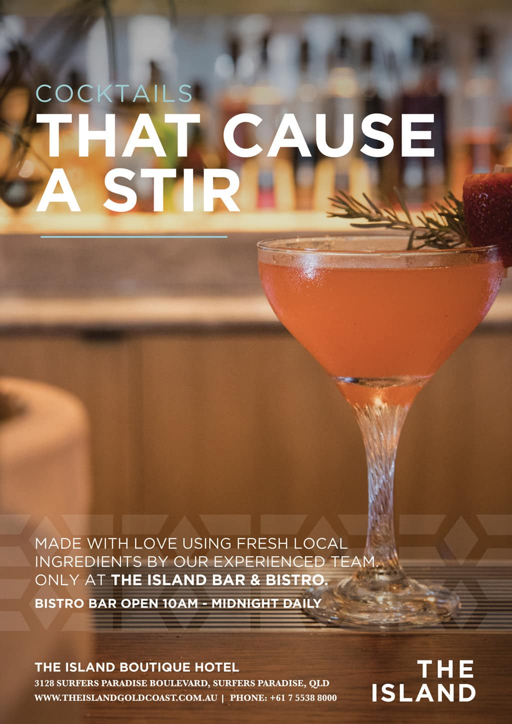 The Island Bistro Cocktails [object object] - food posters cocktails - The Island Bistro   Gold Coast Restaurants