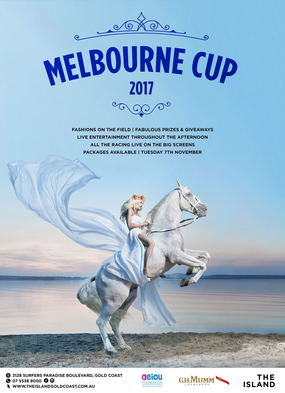 The Island Melbourne Cup [object object] - The Island Melbourne Cup Final Poster - Melbourne Cup 2017