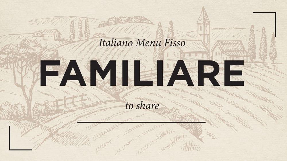 Italian Set Menu for Families!