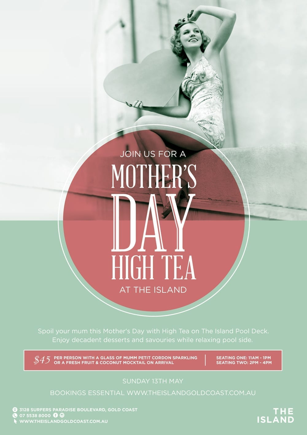 The Island Gold Coast Mother's Day High Tea [object object] - The Island Mothers Day High Tea 13th May Poster web - Mother's Day High Tea