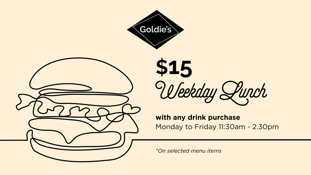 $15 Weekday Lunch at Goldie's