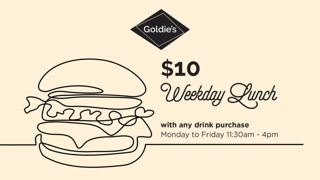 $10 Weekday Lunch at Goldie's