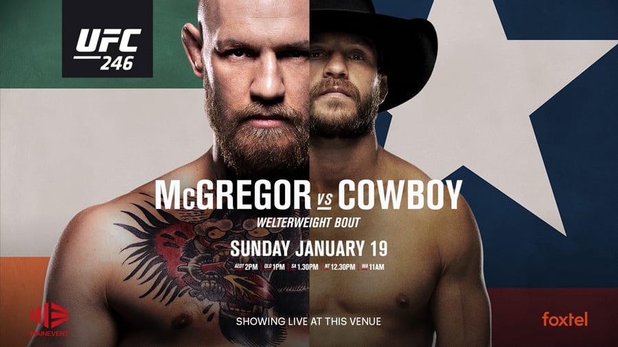 UFC 246 McGregor v Cowboy