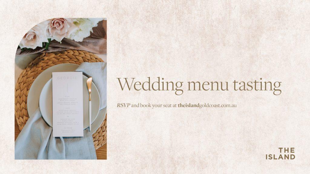 Wedding Menu Tasting