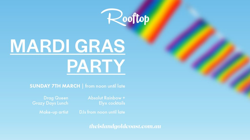Rooftop Mardi Gras Party